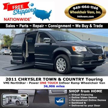 2011 Chrysler Town and Country for sale at Wheelchair Vans Inc - New and Used in Laguna Hills CA
