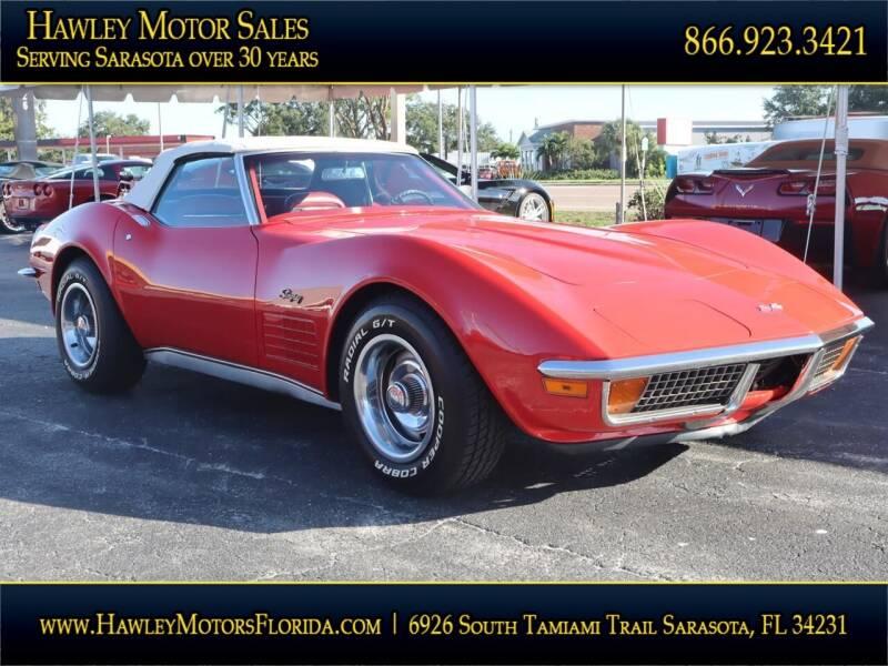1972 Chevrolet Corvette for sale at Hawley Motor Sales in Sarasota FL