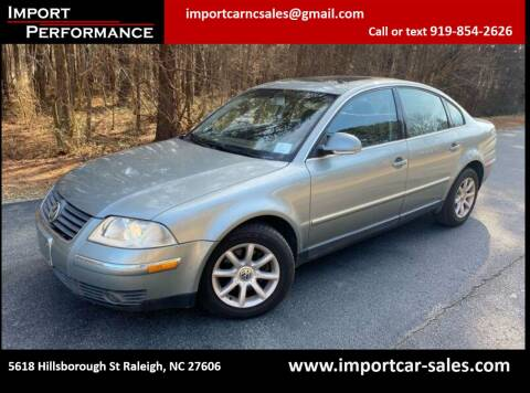 2004 Volkswagen Passat for sale at Import Performance Sales - Henderson in Henderson NC