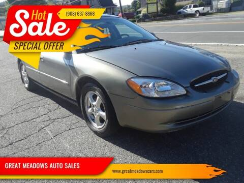 2002 Ford Taurus for sale at GREAT MEADOWS AUTO SALES in Great Meadows NJ