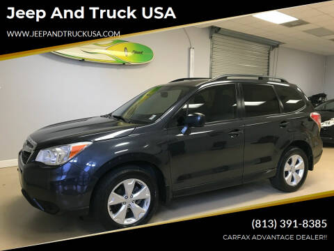2015 Subaru Forester for sale at Jeep and Truck USA in Tampa FL