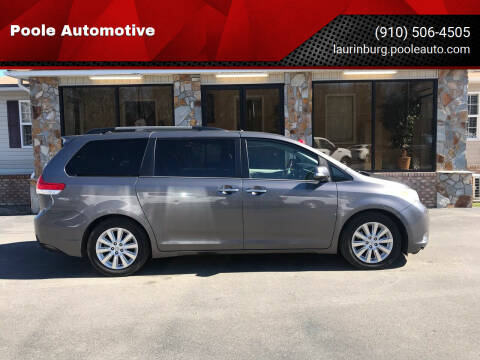 2013 Toyota Sienna for sale at Poole Automotive in Laurinburg NC