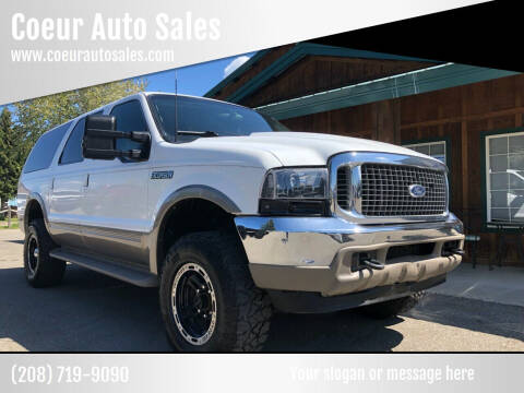 2000 Ford Excursion for sale at Coeur Auto Sales in Hayden ID