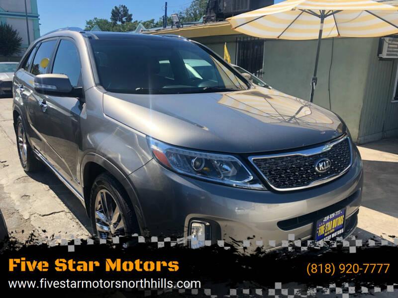 2014 Kia Sorento for sale at Five Star Motors in North Hills CA