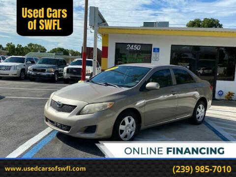 2009 Toyota Corolla for sale at Used Cars of SWFL in Fort Myers FL