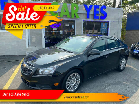 2014 Chevrolet Cruze for sale at Car Yes Auto Sales in Baltimore MD