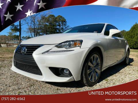 2016 Lexus IS 200t for sale at United Motorsports in Virginia Beach VA