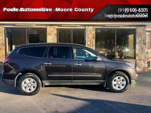 2016 Chevrolet Traverse for sale at Poole Automotive -Moore County in Aberdeen NC