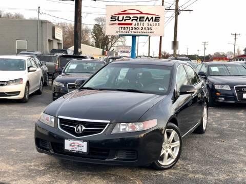 2004 Acura TSX for sale at Supreme Auto Sales in Chesapeake VA