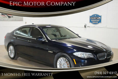 2013 BMW 5 Series for sale at Epic Motor Company in Chantilly VA