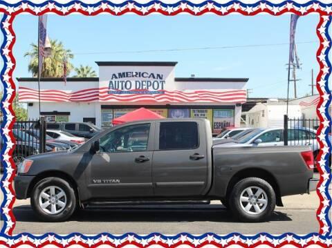 2012 Nissan Titan for sale at American Auto Depot in Modesto CA