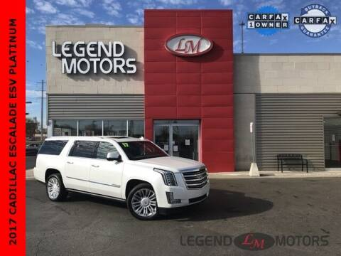 2017 Cadillac Escalade ESV for sale at Legend Motors of Detroit - Legend Motors of Ferndale in Ferndale MI