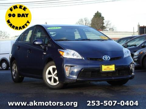 2015 Toyota Prius for sale at AK Motors in Tacoma WA