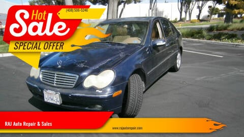 2002 Mercedes-Benz C-Class for sale at RAJ Auto Repair & Sales in San Jose CA