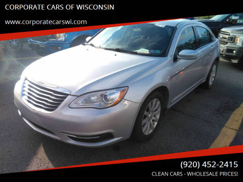 2012 Chrysler 200 for sale at CORPORATE CARS OF WISCONSIN - DAVES AUTO SALES OF SHEBOYGAN in Sheboygan WI
