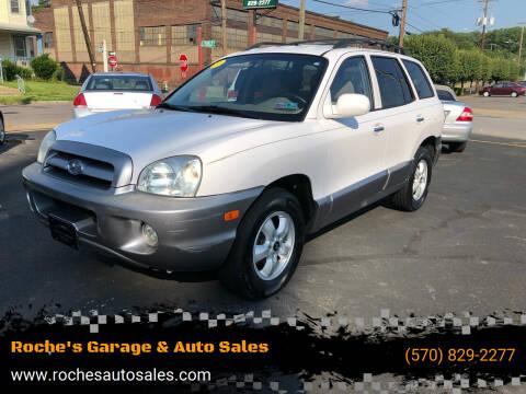 2005 Hyundai Santa Fe for sale at Roche's Garage & Auto Sales in Wilkes-Barre PA