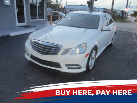 2012 Mercedes-Benz E-Class for sale at K & V AUTO SALES LLC in Hollywood FL