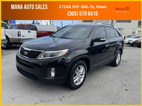 2014 Kia Sorento for sale at MANA AUTO SALES in Miami FL