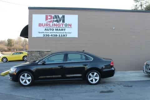 2013 Volkswagen Passat for sale at Burlington Auto Mart in Burlington NC