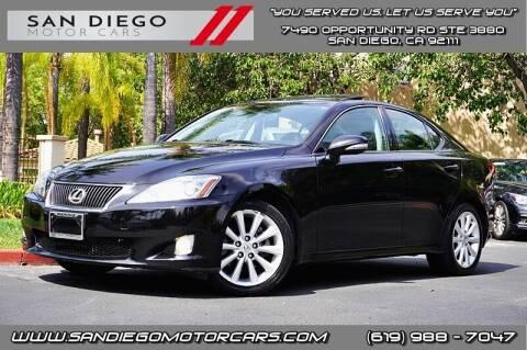 2010 Lexus IS 250 for sale at San Diego Motor Cars LLC in San Diego CA