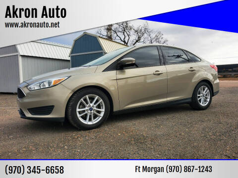 2015 Ford Focus for sale at Akron Auto in Akron CO