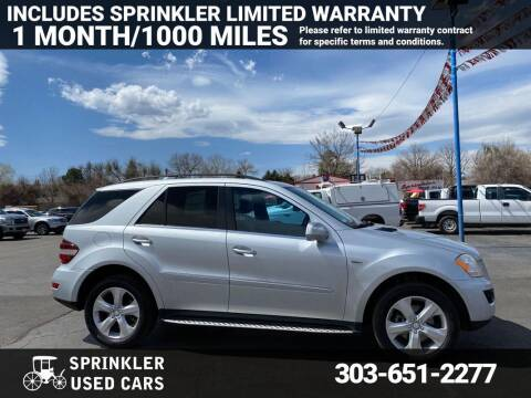 2010 Mercedes-Benz M-Class for sale at Sprinkler Used Cars in Longmont CO