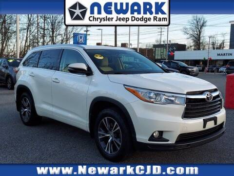 2016 Toyota Highlander for sale at NEWARK CHRYSLER JEEP DODGE in Newark DE