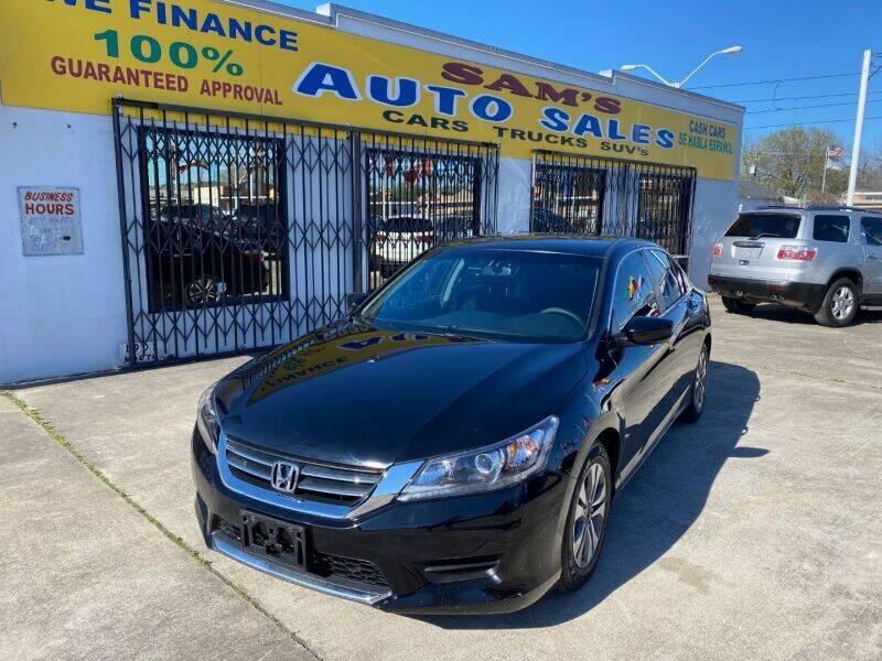 2014 Honda Accord for sale at Sam's Auto Sales in Houston TX