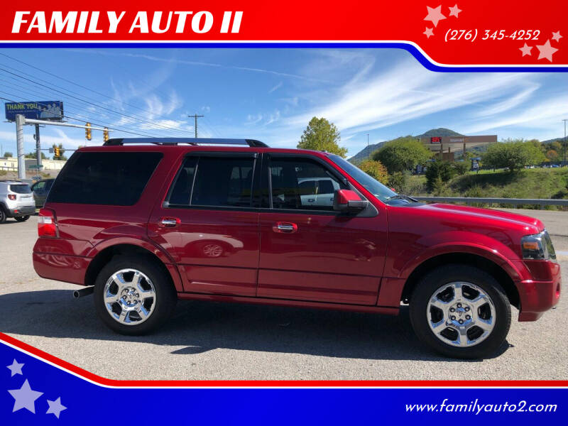 2014 Ford Expedition for sale at FAMILY AUTO II in Pounding Mill VA