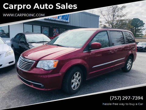 2012 Chrysler Town and Country for sale at Carpro Auto Sales in Chesapeake VA