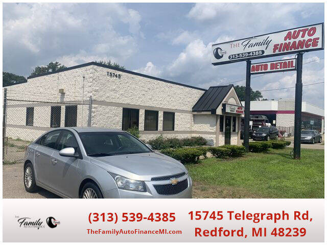 2012 Chevrolet Cruze for sale at The Family Auto Finance in Redford MI