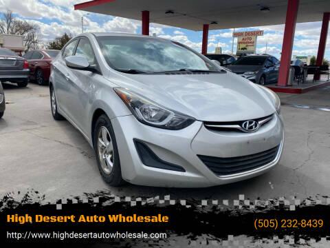 2015 Hyundai Elantra for sale at High Desert Auto Wholesale in Albuquerque NM