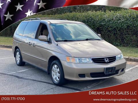 2004 Honda Odyssey for sale at Dreams Auto Sales LLC in Leesburg VA