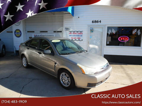 2008 Ford Focus for sale at Classic Auto Sales in Maiden NC