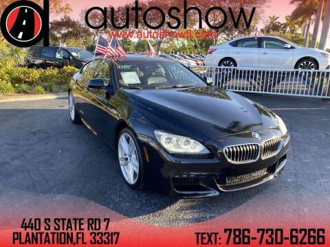 2015 BMW 6 Series for sale at AUTOSHOW SALES & SERVICE in Plantation FL