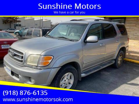 2002 Toyota Sequoia for sale at Sunshine Motors in Bartlesville OK