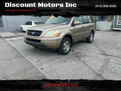 2004 Honda Pilot for sale at Discount Motors Inc in Madison TN
