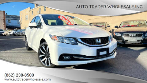 2015 Honda Civic for sale at Auto Trader Wholesale Inc in Saddle Brook NJ
