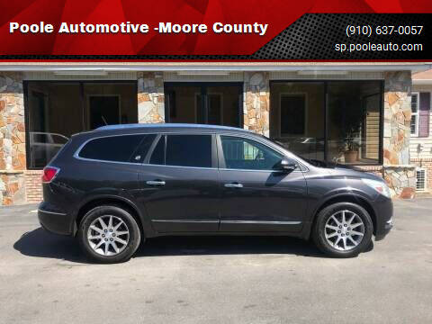 2014 Buick Enclave for sale at Poole Automotive -Moore County in Aberdeen NC