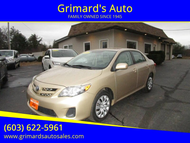 2012 Toyota Corolla for sale at Grimard's Auto in Hooksett, NH