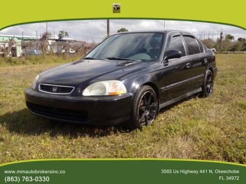 1998 Honda Civic for sale at M & M AUTO BROKERS INC in Okeechobee FL