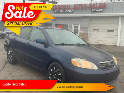 2007 Toyota Corolla for sale at Capitol Auto Sales in Lansing MI