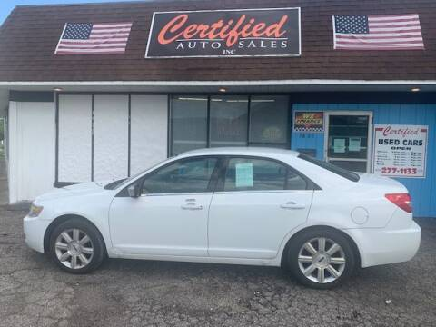 2007 Lincoln MKZ for sale at Certified Auto Sales, Inc in Lorain OH