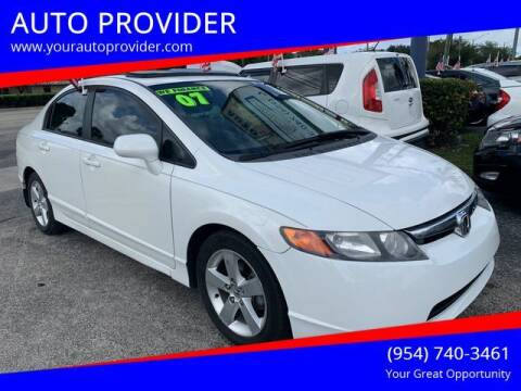 2007 Honda Civic for sale at AUTO PROVIDER in Fort Lauderdale FL