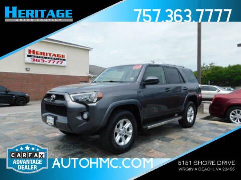 2015 Toyota 4Runner for sale at Heritage Motor Company in Virginia Beach VA