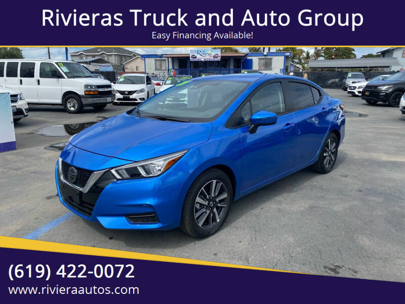 2021 Nissan Versa for sale at Rivieras Truck and Auto Group in Chula Vista CA