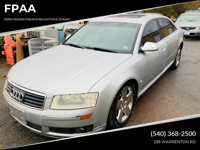 2005 Audi A8 L for sale at FPAA in Fredericksburg VA