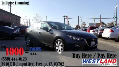 2015 Mazda MAZDA3 for sale at Westland Auto Sales in Fresno CA