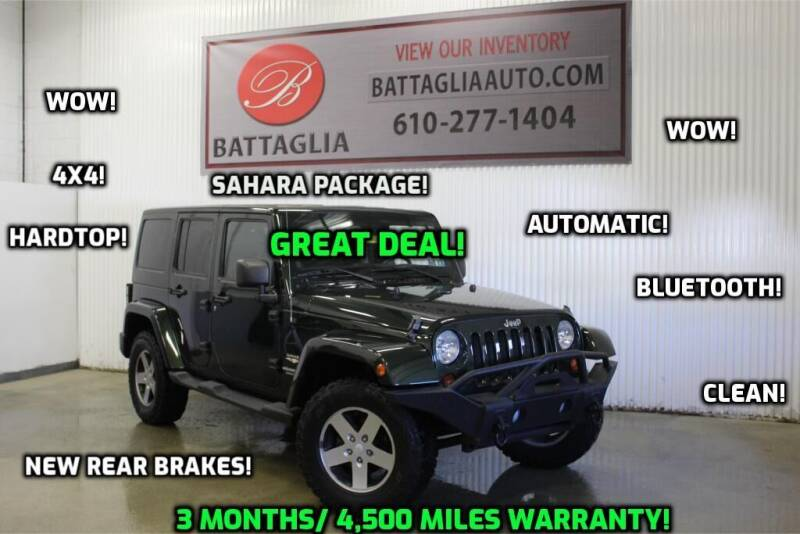 2011 Jeep Wrangler Unlimited for sale at Battaglia Auto Sales in Plymouth Meeting PA