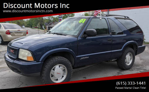 2001 GMC Jimmy for sale at Discount Motors Inc in Nashville TN